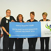 Haley Lyne (far left) of Saving Sight presents the Excellence in Eye Donation Award to Dennis Manley (second from left), chief nursing officer of Mercy Hospital Joplin.<br /> Photo courtesy of Mercy Hospital Joplin