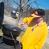 Globe/Roger Nomer<br /> Bryan Braatz, Branson, prepares lunch at the Roaring River State Park campground on Wednesday.