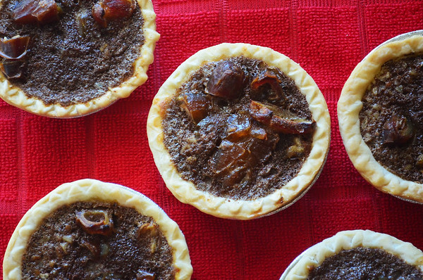 If you like pecan pie but think it's too sweet, then try my Bourbon Date Pecan Tarts. These tarts contain no corn syrup and use a lot less sugar than a traditional pecan pie recipe but the flavor is similar.