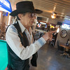 Globe/Roger Nomer<br /> Tom Ferguson talks about the stage area of River's Bent Campground Bar and Grill during a tour on Thursday.