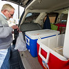 Meals on Wheels volunteer Mike Howard organizes meals for his Meals on Wheels deliveries on Thursday morning at the Joplin Senior Center. Howard has volunteered with the program for about 13 years.<br /> Globe | Laurie Sisk
