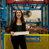 Lexington Peterson, a Pittsburg State sophomore from La Cygne, Kan., talks about a thermoforming machine at PSU's Kansas Technology Center on Feb. 26.<br /> Globe | Roger Nomer
