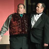 """From the left: Doug Musick (as William Gillette) and David Kloppenborg (Felix) rehearse for their upcoming roles in the Stone's Throw Theatre production of """"The Game's Afoot,"""" which opens March 22.<br /> Globe 