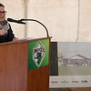 Heather Bradley-Geary, director of supportive housing with The Vecino Group, talks about her excitement for the Joplin Bungalows project on Thursday during a groundbreaking.<br /> Globe | Roger Nomer