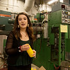 Lexington Peterson, a Pittsburg State sophomore from La Cygne, Kan., talks about a blow molding machine at PSU's Kansas Technology Center on Feb. 26.<br /> Globe | Roger Nomer