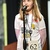 Stapleton Elementary fourth grader Olivia Foltz looks for a little help from the heavens during the 42nd Annual Joplin Globe Spelling Bee on Monday at Thomas Jefferson Independent Day School.<br /> Globe | Laurie Sisk