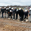 Officials break ground for the Joplin Bungalows project on Thursday at 26th and Rex. <br /> Globe | Roger Nomer