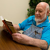 Grant Bell reads at Joplin NALA on Monday afternoon.<br /> Globe | Roger Nomer