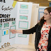 Jessica Archer, an eighth grader at College Heights Christian School, gives a presentation on her memory project during Tuesday's annual Missouri Southern Regional Science Fair at MSSU.<br /> Globe | Roger Nomer