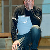 "Shaun Conroy rehearses his role as Stosh for the Joplin Little Thetre production of ""Stalag 17' on Tuesday night at JLT.<br /> Globe 