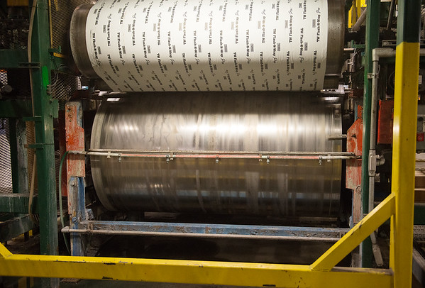 Flash-N-Wrap is manufactured at TAMKO's Columbus plant on Feb. 28.<br /> Globe | Roger Nomer