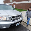 Globe/T. Rob Brown<br /> Jonathan Petry, 13, son of Sherri Petry, right, walks out to the family vehicle after school Friday afternoon, May 3, 2013, at Carl Junction Jr. High School.