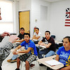 Globe/T. Rob Brown<br /> Jason Navarro, Wheaton High School social studies teacher, discusses the history of computers with his students in History 107 class on modern history from 1877 to present as they discuss the history of computers Wednesday afternoon, May 1, 2013. Navarro was recently named Teacher of the Year by the Missouri State History Day. This class is dual credit with Crowder College.