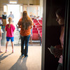 "Globe/Roger Nomer<br /> Annie Ashwell listens for direction backstage during rehearsal for ""The Adventures of Beatrix Potter and Her Friends"" at Joplin's Stained Glass Theatre on Monday evening."