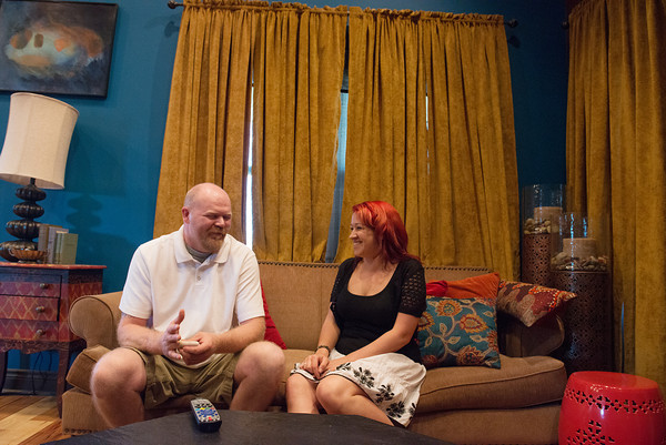 Globe/Roger Nomer<br /> Scott and Natalie Ely were married on the Extreme Makeover program, and received a bohemian-themed house.