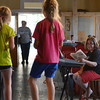 """Globe/Roger Nomer<br /> Jill Spencer gives music direction to and Alli Rauch, 8, and Sierra Hicks, 7, during rehearsal for """"The Adventures of Beatrix Potter and Her Friends"""" at Joplin's Stained Glass Theatre on Monday evening."""