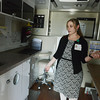 Globe/Roger Nomer<br /> Sarah Ridinger, administrator for mobile units for Jordan Valley Park in Springfield, gives a tour of a mobile medical facility used in schools.