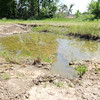 One of several mud pits are included in Pittsburg State's baja course. The water will be drained before next weekend's events, but organizers said plenty of mud will still be in place.<br /> Globe | Laurie Sisk