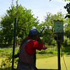 Globe/Roger Nomer<br /> Mike Miller, Pratt, shoots at clay targets during a visit to Claythrone Lodge on Monday.