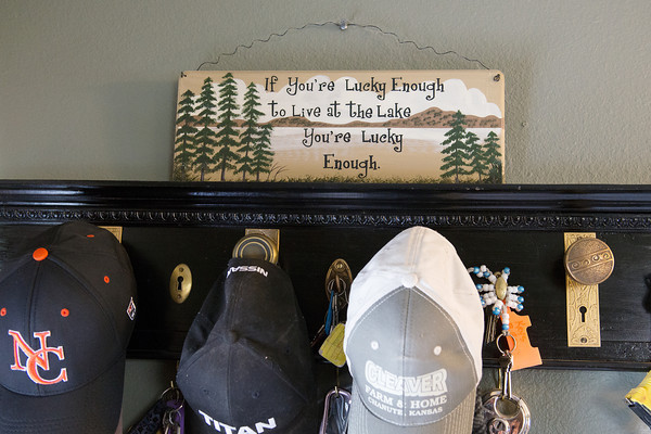 Globe/Roger Nomer<br /> A sign in Bob Forrest's home at Crawford State Park sums up the feelings of many residents at the lake.