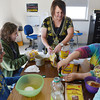 Globe/Roger Nomer<br /> Melissa Box works with Carthage Junior High students to make body scrub during Girls Night Out.
