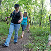 Globe/Roger Nomer<br /> (from left) On Wednesday, Patty Barnard, Joplin, Kim Endicott, Joplin, and Mary Frerer, Carl Junction, hike along the Frisco Trail in preparation for the trip to the Grand Canyon.
