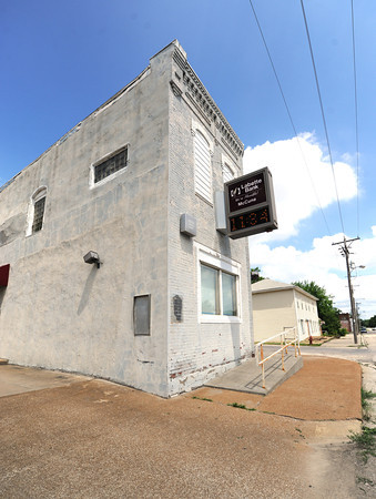 Labette Bank stands as one of the few remaining businesses in McCune. Kan., but residents fear the bank will be closing the McCune branch soon.<br /> Globe | Laurie Sisk