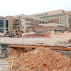 Construction continues Wednesday on the new Mercy Hospital on Hearnes Boulevard. The more than 100-acre campus will feature a mile loop of road around the building and grounds.<br /> Globe | Laurie Sisk
