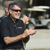 Globe/Roger Nomer<br /> Sam Lancaster, owner of Claythorne Lodge, applauds a trick shot during an exhibition on Monday.