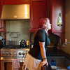 "Globe/Roger Nomer<br /> ""I love this, this is my happy place,"" said Natalie Ely about her kitchen window that overlooks her willow tree at the family's Extreme Makeover House."