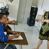Globe/Roger Nomer<br /> Hector Ruiz, an eighth grader at Carthage Junior High, talks with Melissa Box during math class.