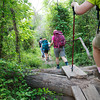 Globe/Roger Nomer<br /> A group of local women hike along the Frisco Trail as they prepare for their trip to the Grand Canyon this summer.