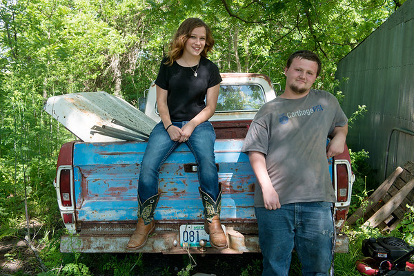 Globe/Roger Nomer<br /> Five years ago, cousins Mason Lillard and Lage Grigsby were severely injured at Home Depot during the tornado. The two are restoring a Ford truck for Mason to drive.