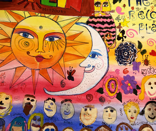 Painting from Empresa Elementary, Oceanside, Calif.