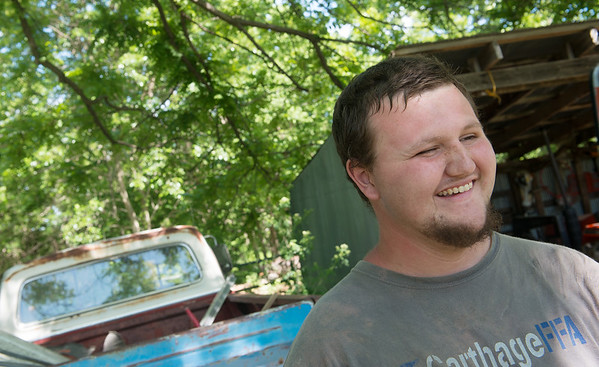 Globe/Roger Nomer<br /> Lage Grigsby talks about his recovery from the 2011 tornado.
