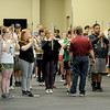 Joplin High School bandmembers rehearse Tuesday at JHS for an upcoming appearance in the Memorial Day Parade in Washington D.C. on Monday.<br /> Globe | Laurie Sisk