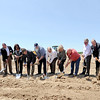 City, county and Kansas Crossing officials break ground for a new casino and hotel complex on Thursday near Pittsburg.<br /> Globe | Laurie Sisk