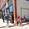 Comic book enthusiasts line up early for free comic books on Saturday at Hurley's Heroes. The event was held in conjunction with National Free Comic Book Day.<br /> Globe | Laurie Sisk