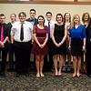 Globe/Roger Nomer<br /> Students honored at Monday's Joplin Globe All-Area Academic Excellence Team Banquet were (front row, left to right) Amanda Hoffman, Pittsburg, Mario Destephen, Thomas Jefferson, Alex Renfro, Thomas Jefferson, Bryson Spahn, Southeast, Melody Reichard, Nevada, Kaelyn Sturgell, Lamar, Kiersten York, Joplin, Anum Ahmed, Joplin, Savannah Spencer, Joplin, Hannah Ward, Carl Junction, (back row) Pranav Suri, Thomas Jefferson, Jacob Barber, Thomas Jefferson, Erin Snyder, Carthage, Noah Wells, Thomas Jefferson, Devon Russell, College Heights, Hannah Maus, St. Mary's-Colgan, and Erin Psajdl, Carl Junction.