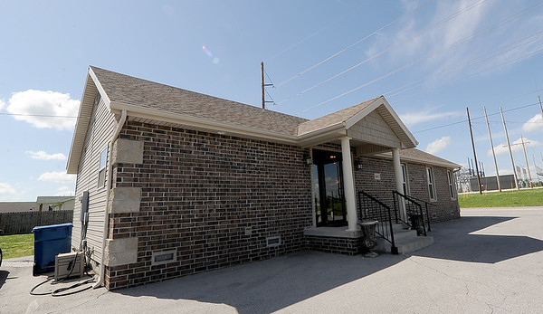 The new building for Cut Looses Salon sits near 26th and South Byers streets. Cut Loose Salon owner Dianna Collins was the first to apply for a building permit afterthe May 2011 tornado destroyed her old salon.<br /> Globe | Laurie Sisk