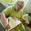 Globe/Roger Nomer<br /> Ann Leach plans to keep a ride journal of her progress.