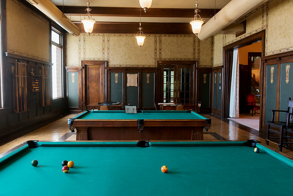 Globe/Roger Nomer<br /> The Billards Room at the Scottish Rite Temple has been restored.
