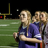 Globe/Roger Nomer<br /> Emily Huddleston watches with her team as seconds tick away in the championship game of the Powderpuff Football game at Joplin High School on Friday, May 6. The game is one of many senior activities planned before graduation at the school.