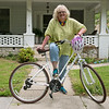 Globe/Roger Nomer<br /> Ann Leach plans to ride 60 miles per month for a year in honor of her 60th birthday.