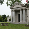 Globe/Roger Nomer<br /> The Rogers mausoleum is one of several historic structures on the grounds of Mount Hope Cemetery.