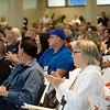 Globe/Roger Nomer<br /> The crowd applauds a speaker during Thursday's Joplin Disaster Recovery Summit at Missouri Southern.