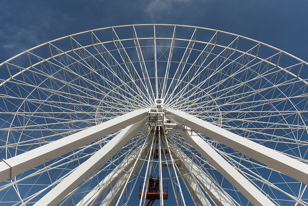 Globe/Roger Nomer<br /> The Branson Ferris Wheel is planned to be completed later this summer.