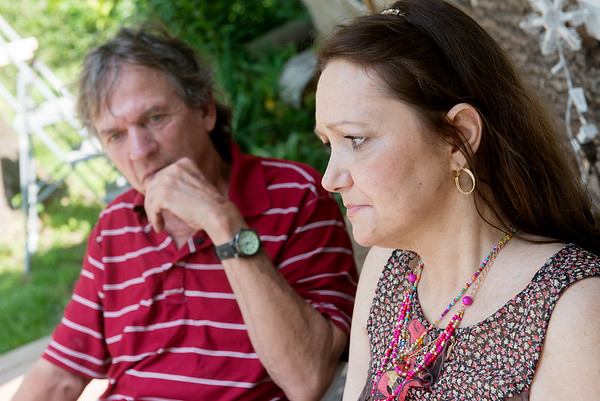Globe/Roger Nomer<br /> Darlene and Tom Poor talk about the struggle they face without the treatment of medical marijuana during an interview on Thursday morning.