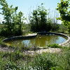 Globe/Roger Nomer<br /> The abandoned swimming pool belonged to house damaged by the tornado near 20th and Stephens Boulevard in Duquesne.