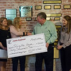 Globe/Roger Nomer<br /> Present for the Joplin Regional Community Foundation check presentation to Lafayette House on Monday are (from left) Alison Malinowski, executive director of Lafayette House, Jennifer Reeves, president elect of the Community Foundation board, Jenny Hacker, board president of Lafayette House, Don Gould, president of the Community Foundation, Adrienne Jackson, secretary of the Community Foundation, and Gary Duncan, board member of the Community Foundation.